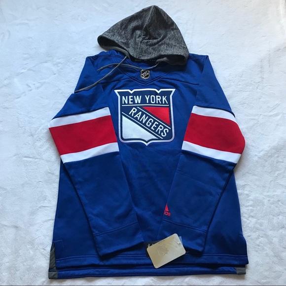 info for 71d86 939ce Adidas New York Rangers Hockey Men's Fleece Jersey NWT